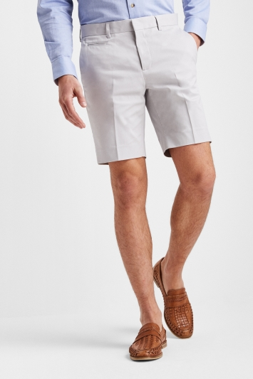 Moss London Slim Fit Pebble Stretch Chino Short