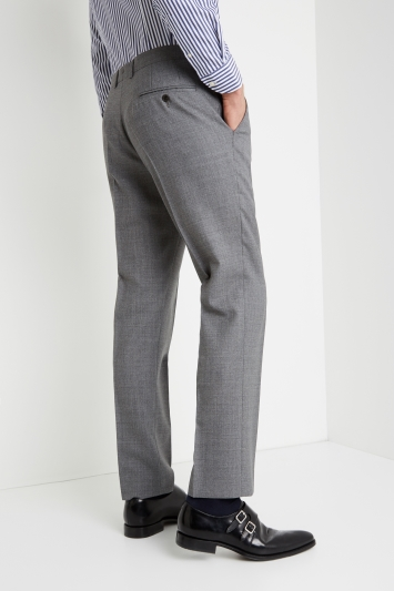 Savoy Taylors Guild Tailored Fit Grey Trousers