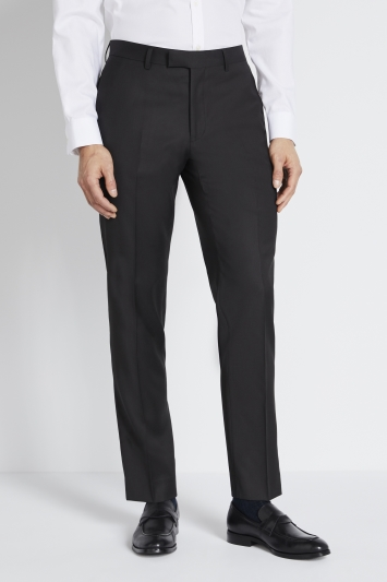 Lanificio F.lli Cerruti Dal 1881 Tailored Fit Black Twill Trousers