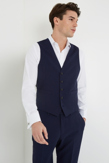 Lanificio F.lli Cerruti Dal 1881 Tailored Fit Blue iTravel Waistcoat