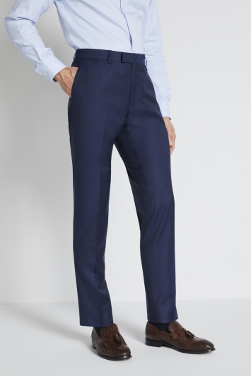 Lanificio F.lli Cerruti Dal 1881 Tailored Fit Navy Twill Trousers