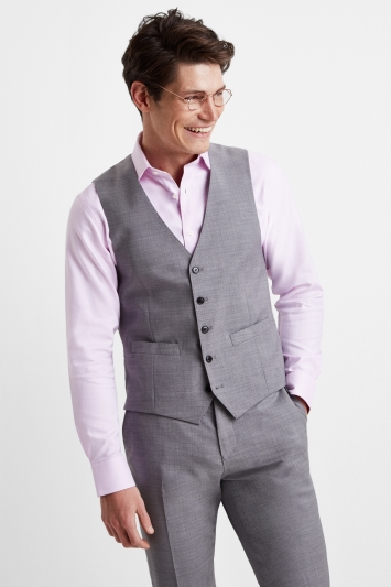 Moss 1851 Performance Light Grey Waistcoat