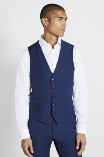 Moss 1851 Performance Royal Blue Waistcoat