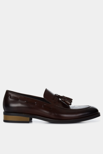 John White Nile Brown Tassel Loafer Shoe