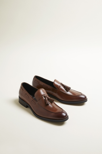 John White Nile Tan Tassel Loafer Shoe