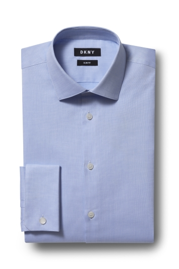 DKNY Slim Fit Sky Single Cuff Textured Shirt