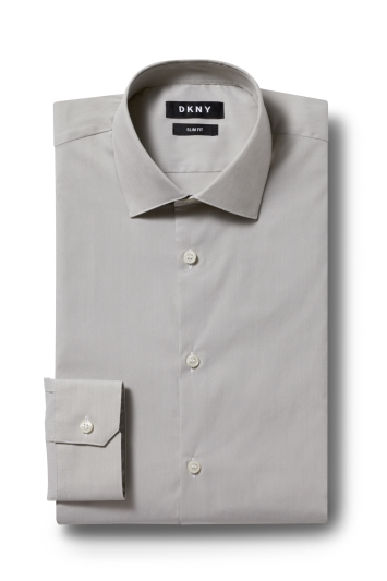 DKNY Slim Fit Stone Single Cuff Stretch Shirt