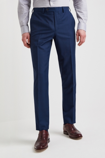 Ermenegildo Zegna Cloth Tailored Fit Blue Check Trouser