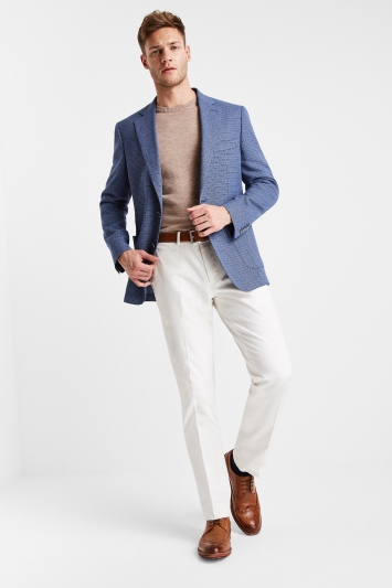 Moss 1851 Tailored Fit Blue Openweave Jacket