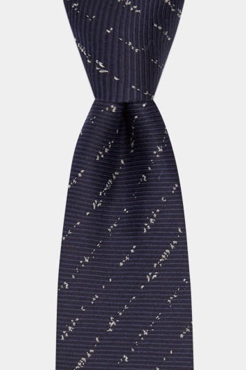 DKNY Navy Twill with Broken Stripe Tie