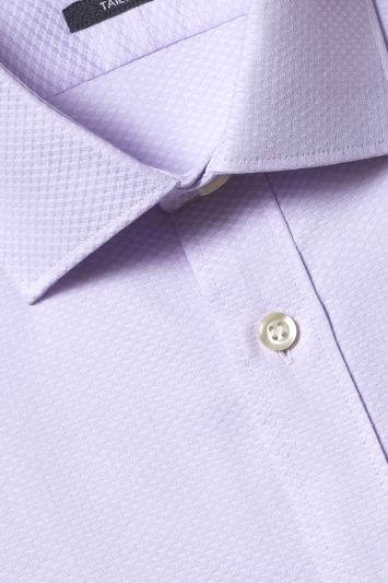 Savoy Taylors Guild Tailored Fit Lilac Single Cuff Shirt