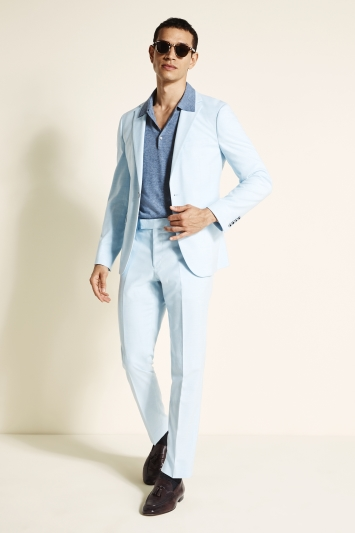 Moss London Slim Fit Sky Blue Lightweight Jacket
