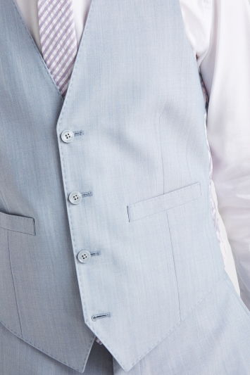 French Connection Powder Blue Marl Tailored Fit Waistcoat