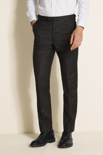 Moss Covent Garden Tailored Fit Grey Sharkskin Trousers