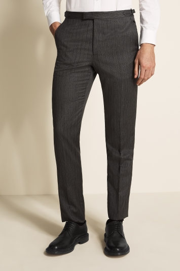 Moss Covent Garden Tailored Fit Grey Stripe Trousers