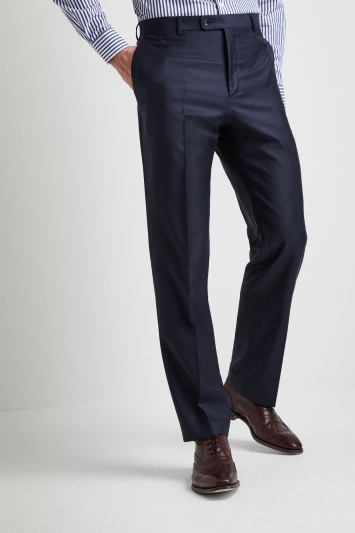 Ermenegildo Zegna Cloth Regular Fit Plain Blue Trousers