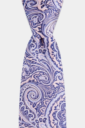 Moss London Pink & Purple Mid-Size Paisley Tie