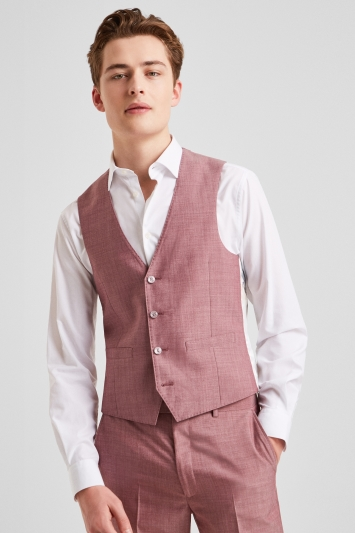 French Connection Slim Fit Mulberry Waistcoat