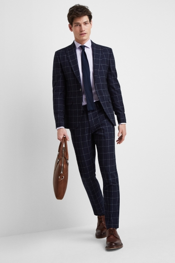 Moss London Skinny Fit Boucle Windowpane Jacket
