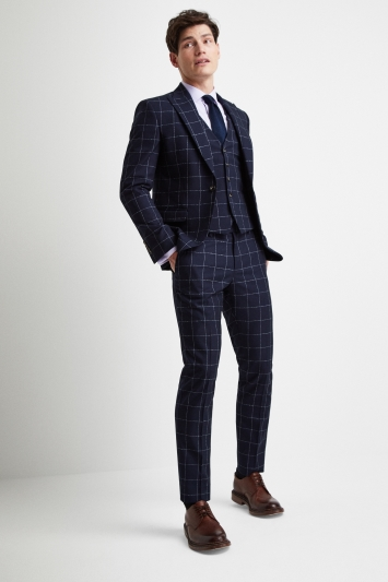 Moss London Slim Fit Boucle Windowpane Jacket