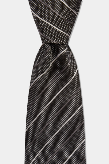 HUGO by Hugo Boss Grey with White Diagonal Stripe