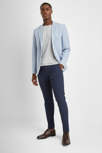 HUGO by Hugo Boss Sky Blue Textured Jacket
