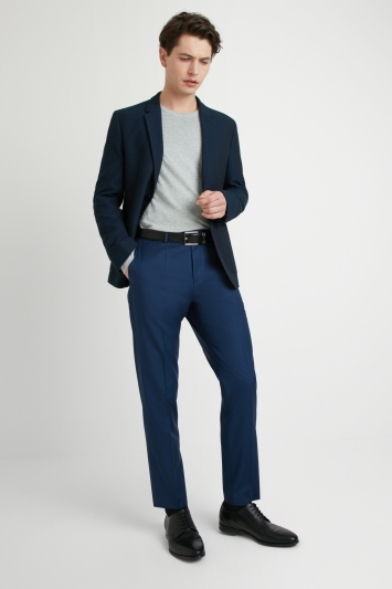 HUGO by Hugo Boss Tailored Fit Navy Textured Jacket