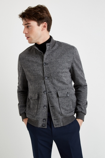 Moss 1851 Tailored Fit Grey Check Blouson