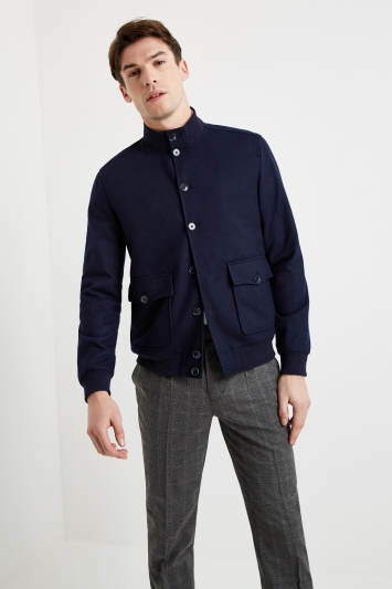 Moss 1851 Tailored Fit Navy Blouson