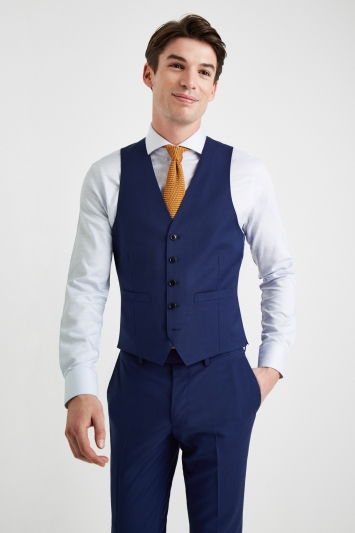 Moss 1851 Performance Slim Fit Royal Blue Waistcoat