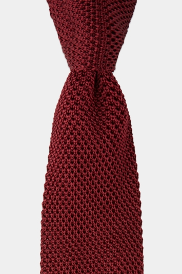 Moss 1851 Wine Knitted Tie