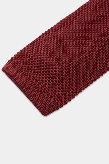 Moss 1851 Wine Knitted Silk Tie