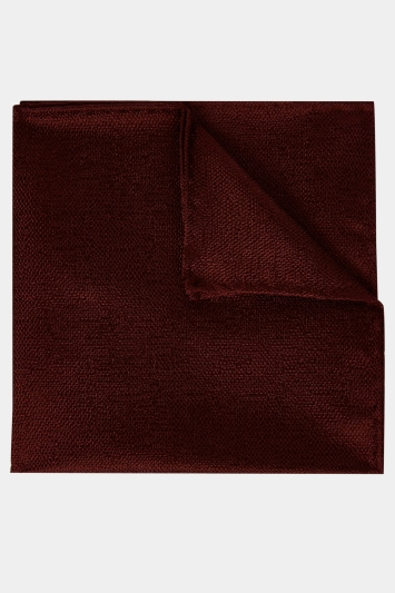 Moss 1851 Burgundy Melange Silk Pocket Square