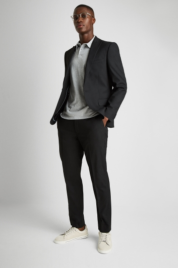 French Connection Slim Fit Black Stretch Jacket