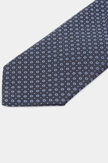 HUGO by Hugo Boss Navy with Pastel Blue Spot Tie