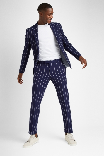 Moss London Slim Fit Boat Stripe Jacket