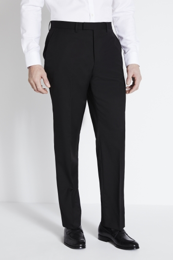 Savoy Taylors Guild Regular Fit Black Twill Trousers