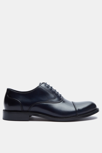 John White Navy Hopwood Round Toecap Oxford Shoes