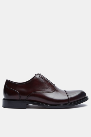 John White Burgundy Hopwood Round Toecap Oxford Shoes