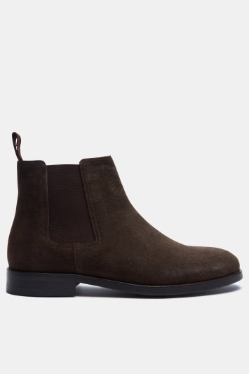 John White Piccadilly Brown Suede Chelsea Boot