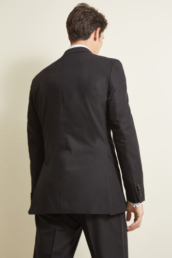 Moss Esq. Regular Fit Black Peak Dress Jacket