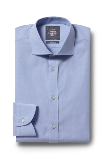 Savoy Taylors Guild Tailored Fit Sky Single Cuff Shirt