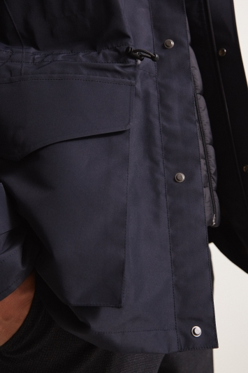 Moss 1851 Tailored Fit Navy Premium Field 4 Pocket Jacket
