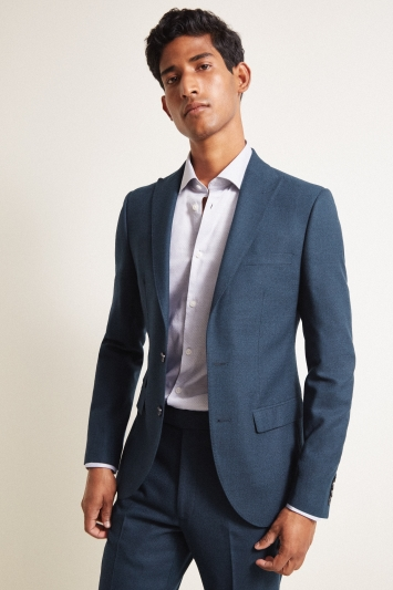 French Connection Slim Fit Teal Flannel Jacket