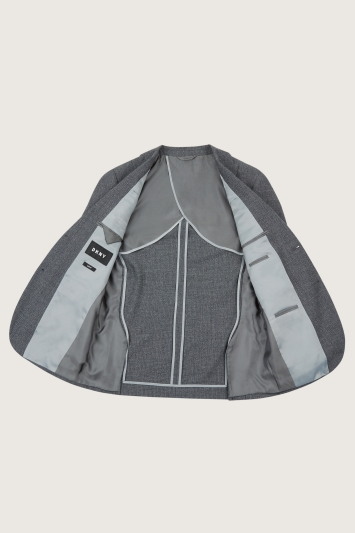 DKNY Slim Fit Grey Texture Jacket