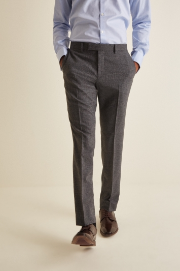 DKNY Slim Fit Grey Texture Trousers