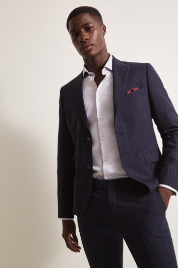 DKNY Slim Fit Navy Stripe Jacket