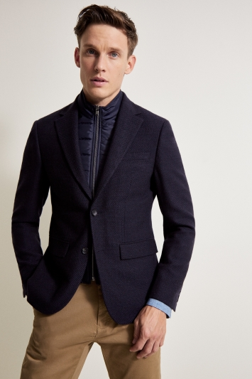 DKNY Slim Fit Ink Knit Jacket