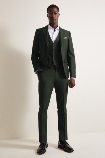 DKNY Slim Fit Green Jacket