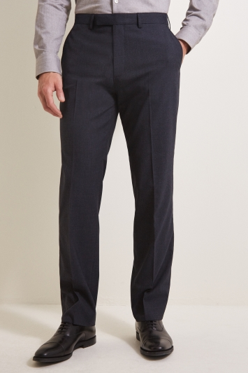 Moss Esquire Regular Fit Navy POW Check Trousers